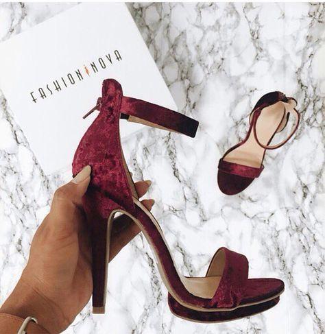 #fashionnova red velvet heels