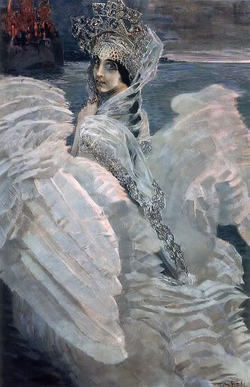 The Swan Princess, a portrait of Nadezhda Zabela-Vrubel by Mikhail Vrubel.