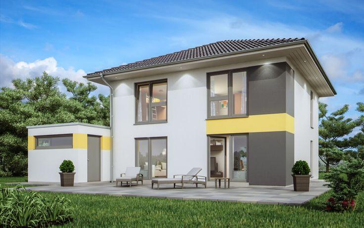 Stadtvilla Neubau modern mit Garage & Walmdach Architektur