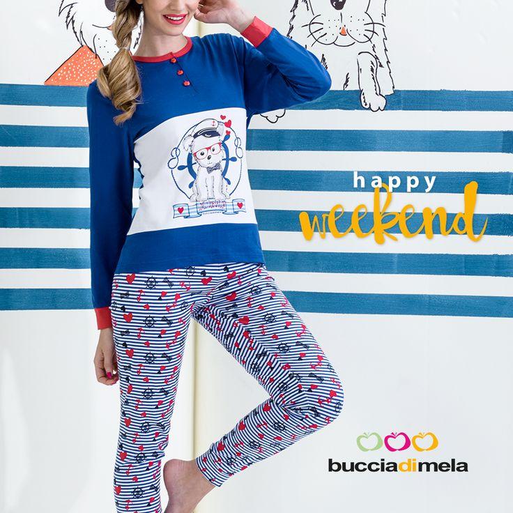 #Weekend all'insegna del #relax con i nuovi e coloratissimi #pigiami #BucciadiMela! www.bucciadimela.it