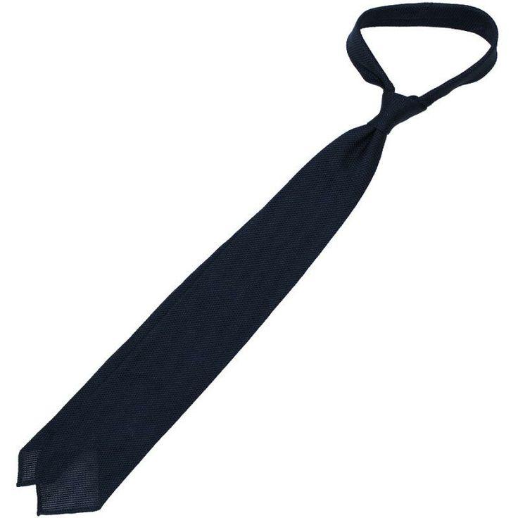 Grenadine / Garza Piccola Tie - Navy - Hand Rolled