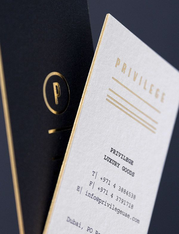 215 best business card images on pinterest business cards this navy clean crisp identity for privilege designed by for brands is really lovely that gold edge painting is just beautiful reheart Image collections