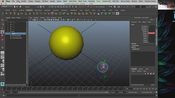 Parenting In Autodesk Maya - A simple example