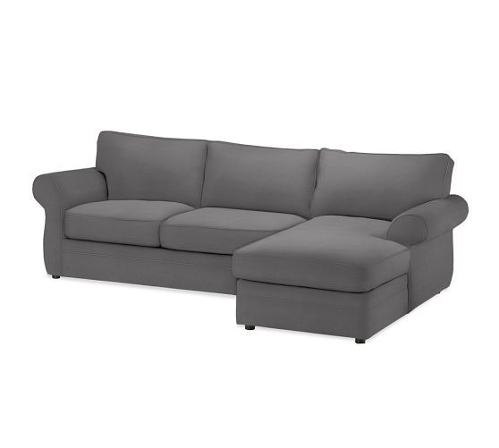 Pearce 2 piece sectional with chaise pottery barn for Chaise 5 5 designers