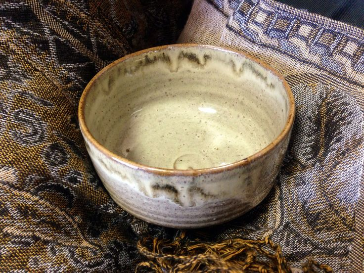 This is a Takatori tea bowl. It was given to me by my brother and sister in law.