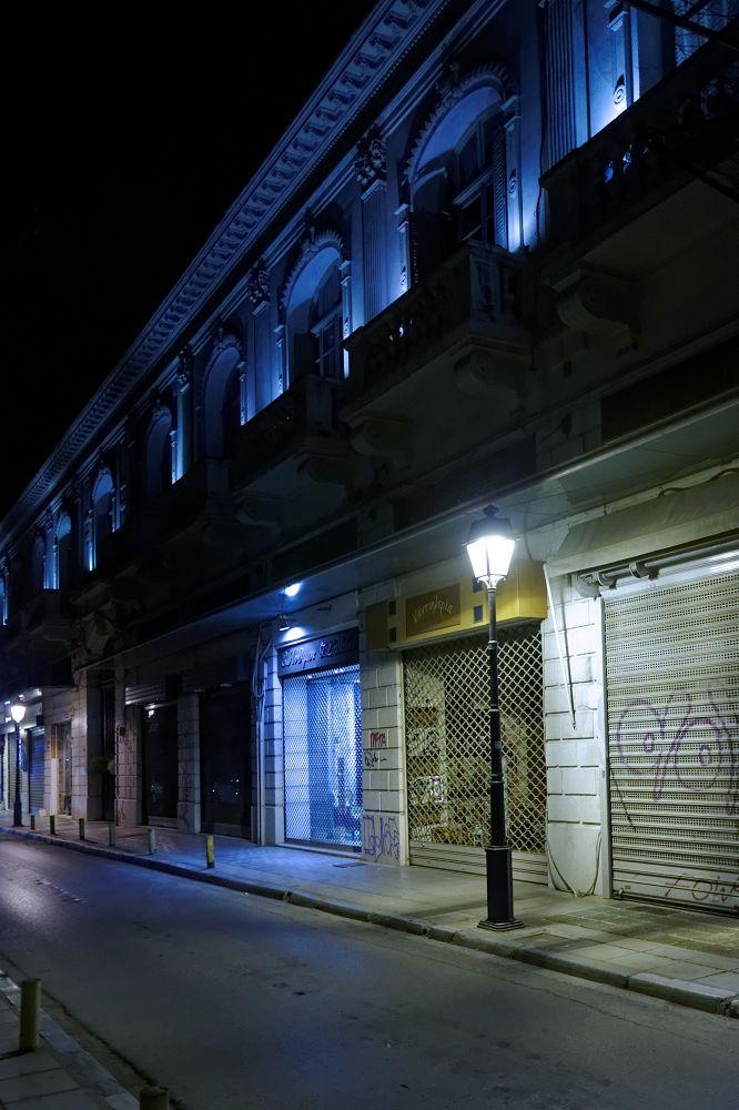 Νύχτα στη Βασιλέως Ηρακλείου.  (Μάρτιος 2016)