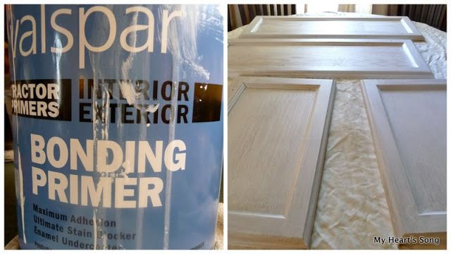 Use bonding primer to prep cabinets for painting the - Best bonding primer for kitchen cabinets ...