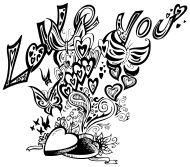 Open heart box I LOVE YOU