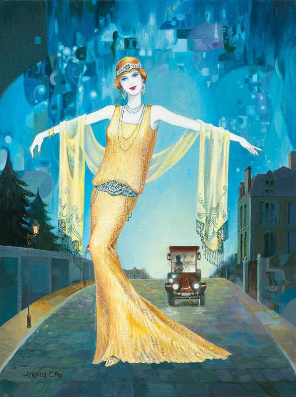 Helen Lam art: Art Nouveau, Art Deco, Illustration, Helen Lam, Lam Art, Painting, Art Deco, Artdeco