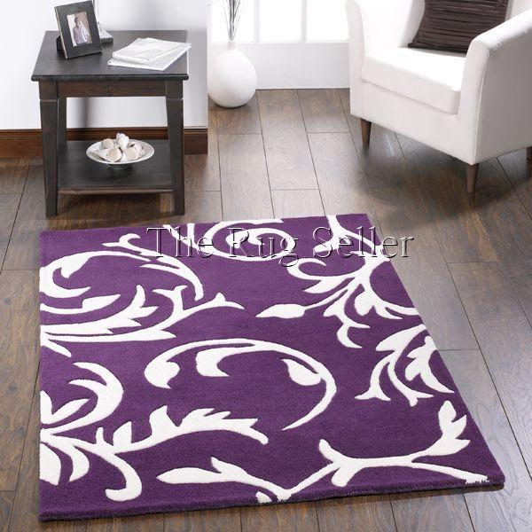 Floral scroll wool rugs in plum buy online from the rug seller uk - Wool Rugs - Juniper Wool