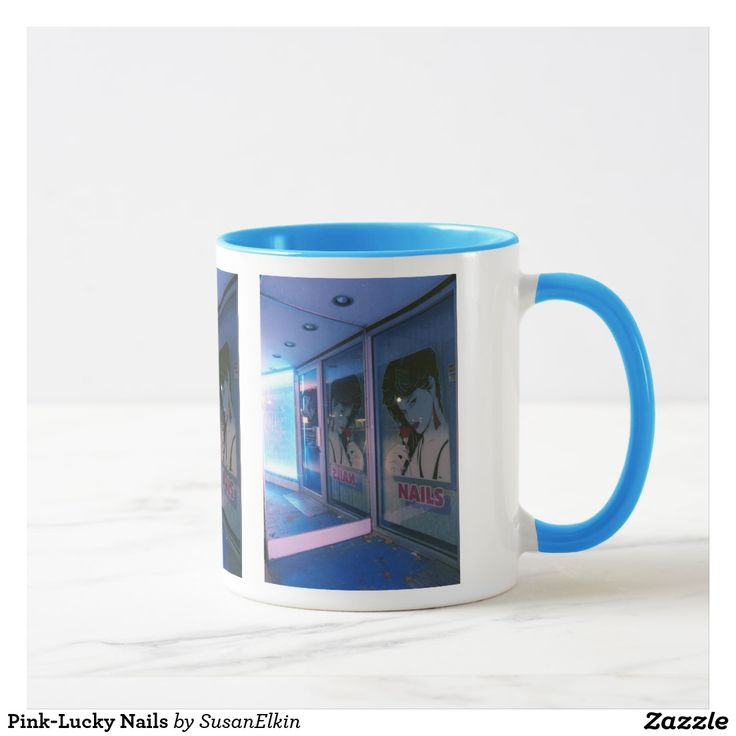 Pink-Lucky Nails Mug | Zazzle.com | Mugs, Modern decor, Modern lighting