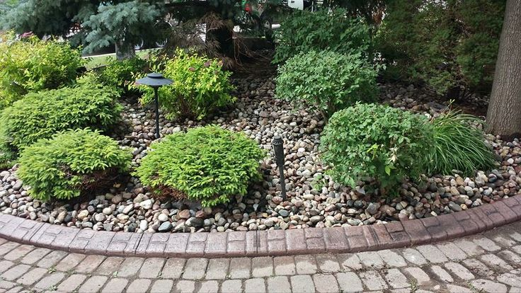 Curbing and stone make a WOW garden.