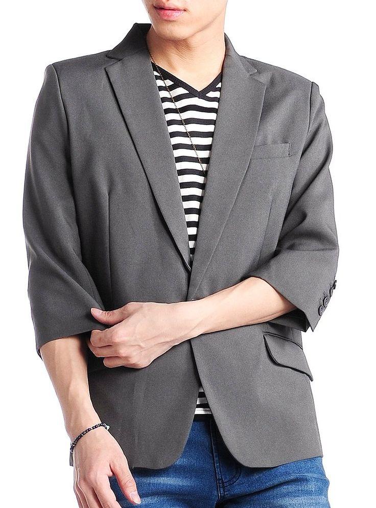 JACK PORT_JACK PORT(ジャックポート) テーラードジャケット メンズ 長袖 7分袖 スーツ生地 1B ブレザー スーツ 春 夏 JPP06207_通販_Amazon アマゾン