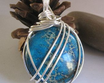 34 best Wire Wrapped Stones images on Pinterest   Wire wrapped ...
