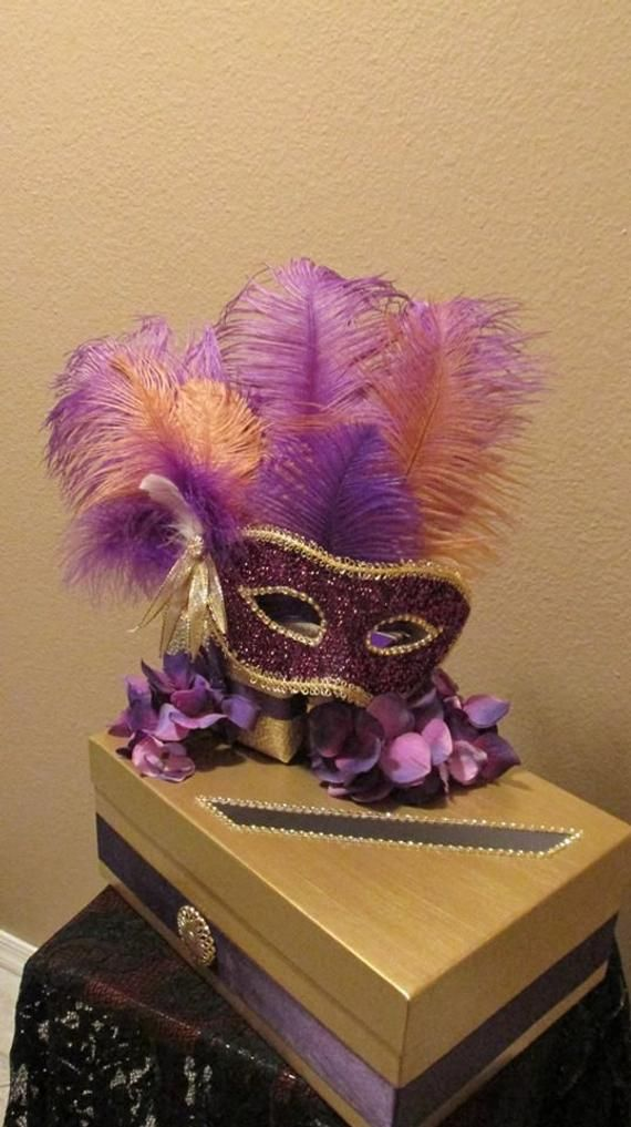 Masquerade Themed Wedding Anniversary Birthday Party Card Money Box