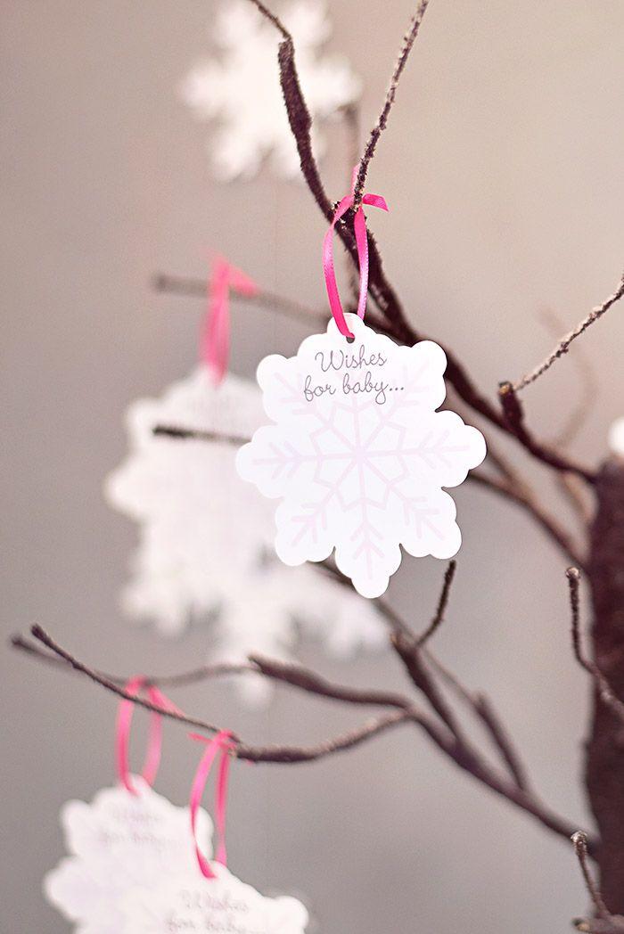 "Winter Wonderland Little Penguin Baby Shower Ideas - ""Wishes For Baby"" Wishing Tree | Celebration Lane"
