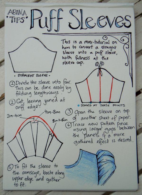 Puffed sleeve tutorial