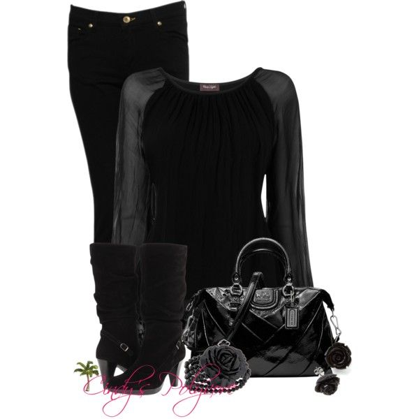 All Black Contest, created by cindycook10 on Polyvore