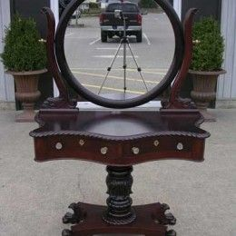 Antique and Vintage Furniture For Sale - American Federal Empire Mahogany Vanity