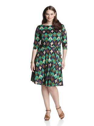 59% OFF Leota Women's Plus Ilana Dress (Purple/Brown)