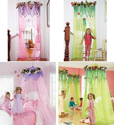 I would love to decorate my daughter's room like this. this site has great stuff - lots of fairy themed products.