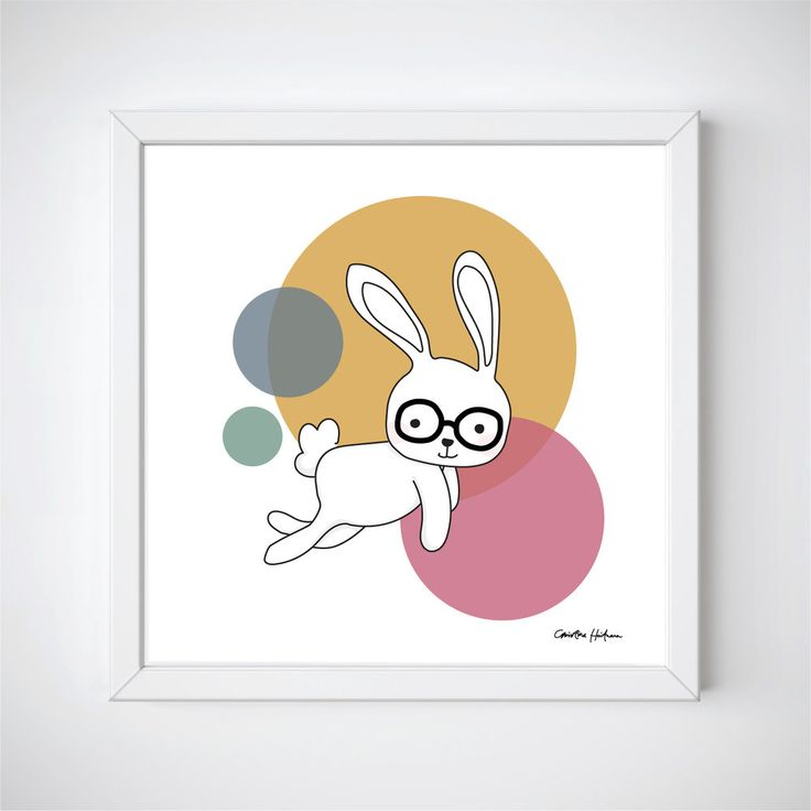 "Space Rabbits -CASTOR Illustration of a cute rabbit jumping around in space. ""CASTOR"" is a part of the Space Rabbits collection.  This poster is perfect for a nursery or a child's room.   #illustratör #illustration #rabbit #rabbits #space #planets #cute #poster #prints #kidsroom #kidsposter #children #kidsroominspo"