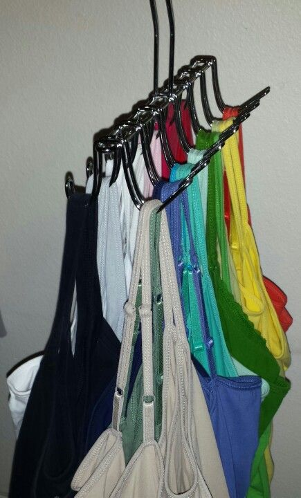 Best tank top organizer ever! Walmart $4.97 belt/tie hanger