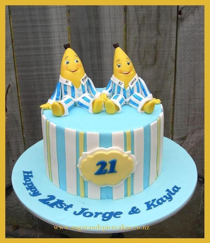 Bananas in Pyjamas 21st Cake