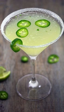 for when I can drink alcohol again... Jalapeno Parsley Sour Martini