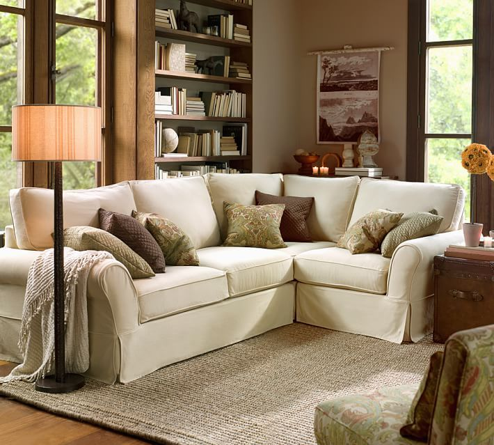 PB Comfort Slipcovered 3-Piece Sectional with Corner : pottery barn pb comfort sectional - Sectionals, Sofas & Couches