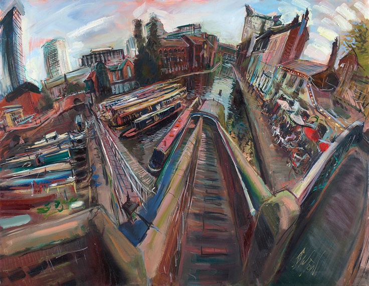 Rob Pointon - Gas Street Basin, Oil on Canvas, 2012