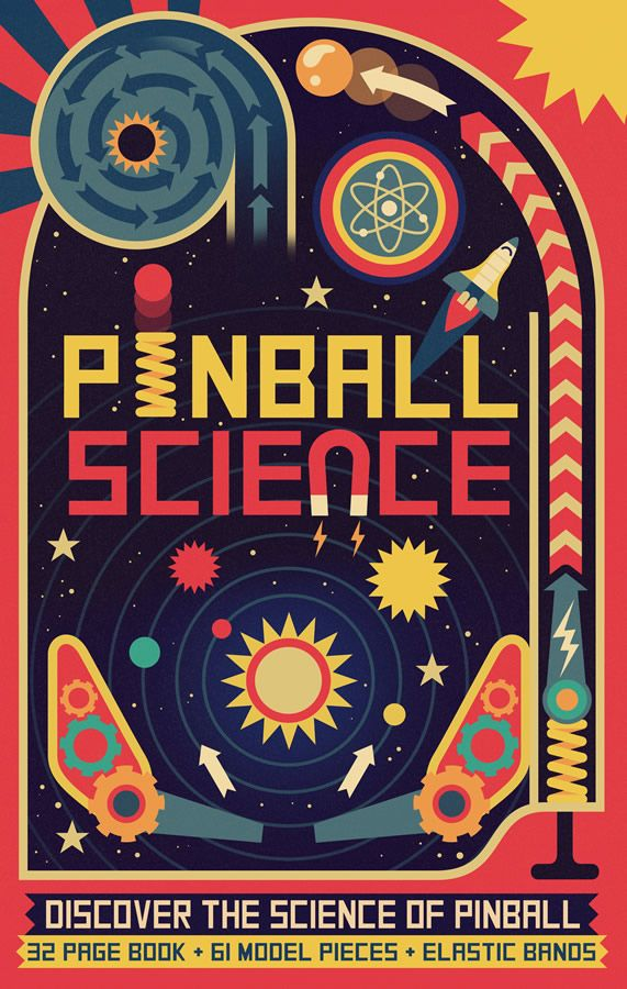 Owen Davey - Pinball Science Book Cover on Behance