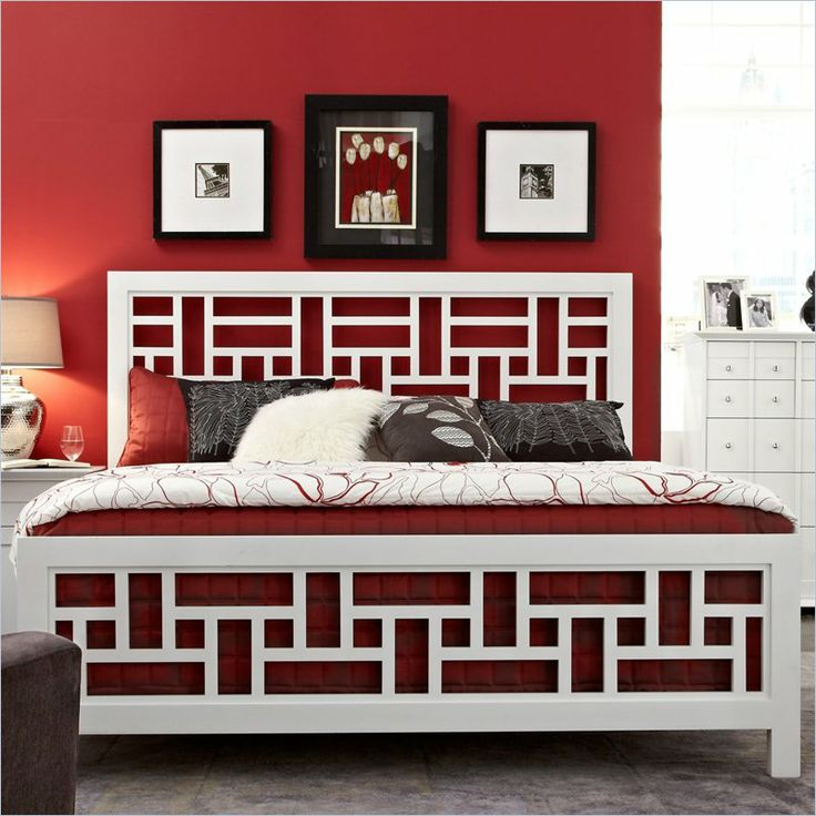 Broyhill Perspectives Artic White Lattice Panel Bed
