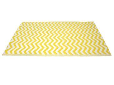 Earth de Fleur Homewares - Outdoor Floor Mat Zig Zag Yellow & White