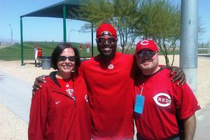 Commentary: Brandon Phillips: #adifferentidentity ~ Cincinnati Reds second baseman using Twitter to connect with fans, & on the field ~Updated: 16 June 2011, 5:11 PM ET,  by Amy K. Nelson | ESPN.com ~ GLENDALE, Ariz.: It's a Friday afternoon in late March, & Rachel & Dave Zahniser sit nervously in a hotel lobby, their eyes darting, looking to the door constantly. Is this real ~ will their host show? And... {N's Note: hubby & i both have Mr. Phillips' Cin. Reds shirt!}