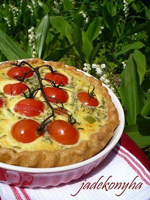 Jade konyhája: Aszalt paradicsomos - mozzarellás quiche