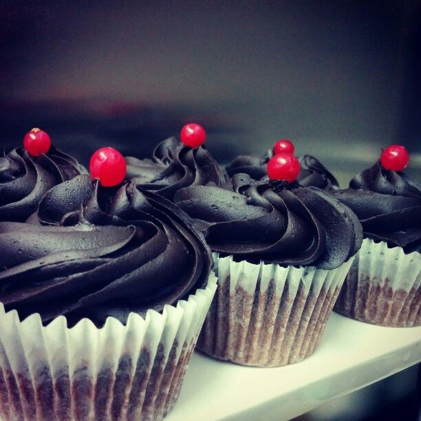 #cupcakes with #chocolate #fudge