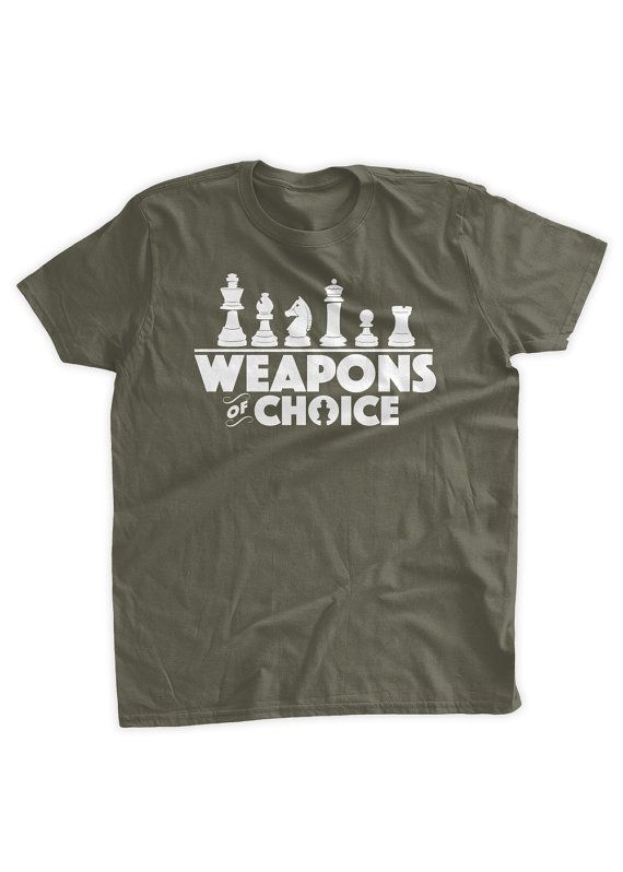 Weapons Of Choice Chess T-Shirt Chess Players Chess by BumpCovers