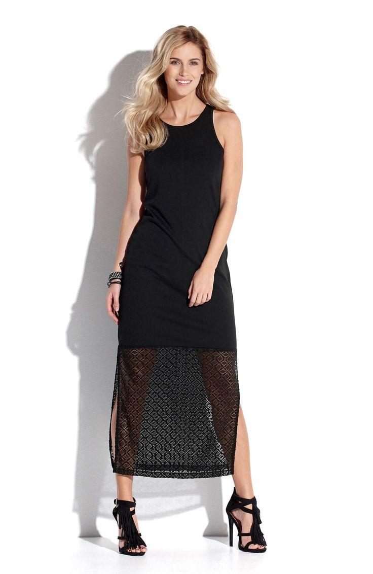 Czarna, długa sukienka od TrulyMine http://www.halens.pl/moda-damska-rozmiary-specjalne-na-gore-5828/sukienka-matilde-556216?imageId=393882&variantId=556216-0001
