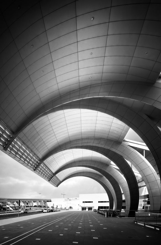 Dubai International Airport | Terminal 3 | Architect:  Paul Andreu - Dubai, United Arab Emirates.