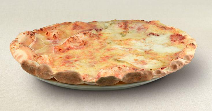 Tomato, mozzarella, grana padano, gorgonzola and emmental