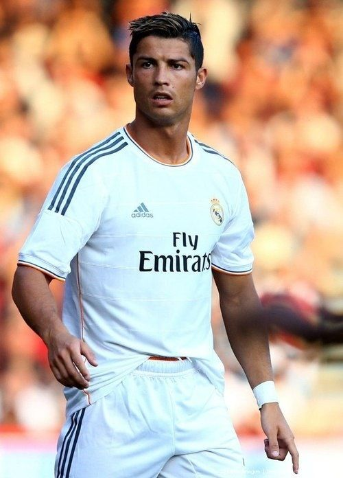 Cristiano Ronaldo Real Madrid 2013  His hair is nice! and the Uniform is sick as well! gotta get it!