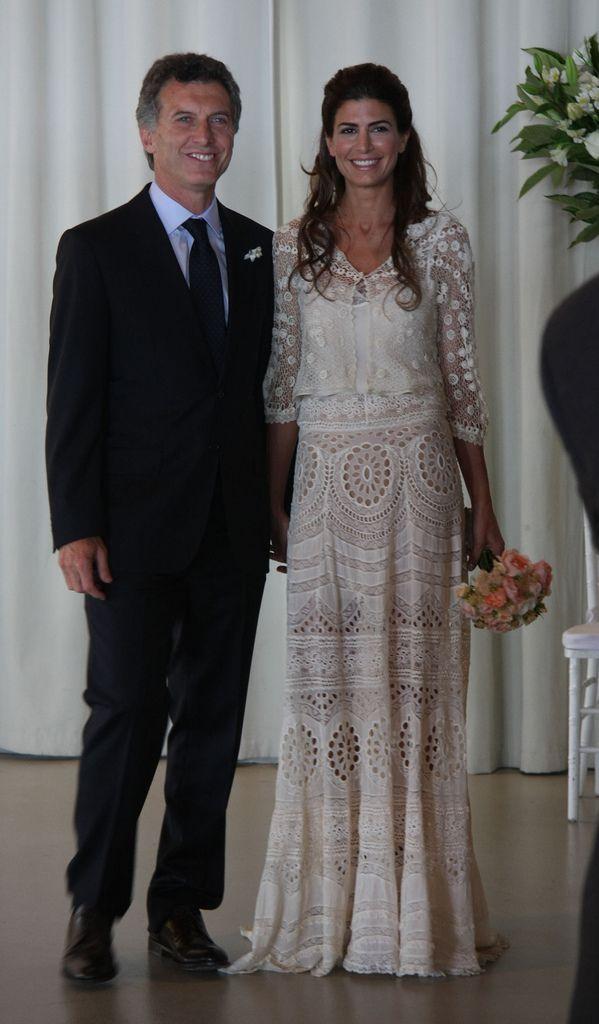 Con su esposo Macri Con su esposo