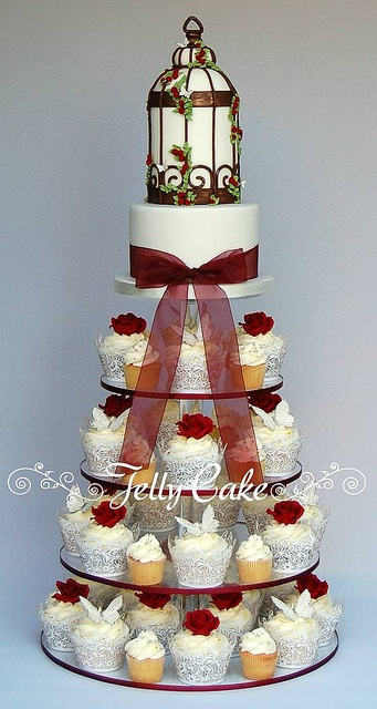Birdcage and Butterfly Cupcake Tower | Flickr - Photo Sharing!