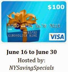 $100 Visa Gift Card Giveaway 6/30 - Newly Crunchy Mama Of 3
