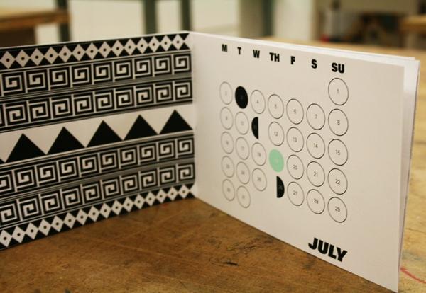Calendario Azteka by Philip da Silva, via Behance