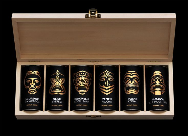 Look at that amazing set of coffee. We want one. Paradise Gourmet: Exotic Coffee — The Dieline