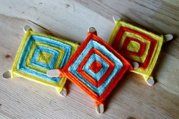 """he """"Ojo de Dios"""" or """"God's Eye"""" is an ancient symbol made by the Huichol Indians of Mexico and the Aymara Indians of Bolivia. I remember making """"Ojos"""", as my grandmother called them, as a child. She told me that when you made one for someone as a gift, you wished them protection and a watchful eye."""
