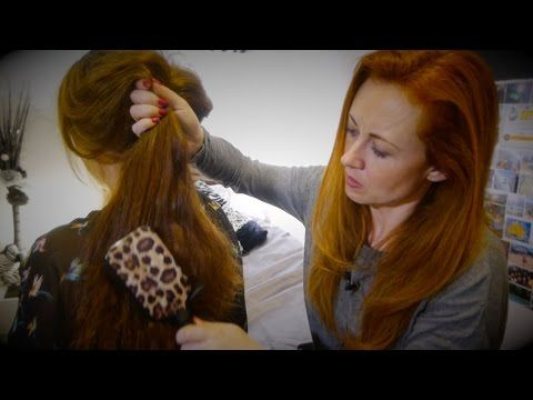A relaxing ASMR close up sound hair brushing session using ...