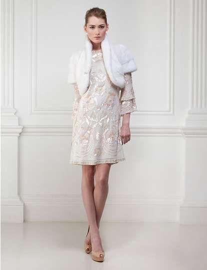 Furry Wedding Gowns : Matthew Williamson 2011 Bridal